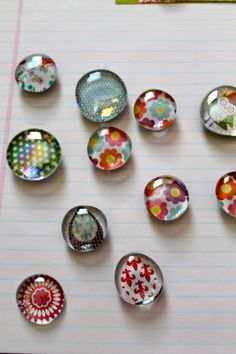 glass pebble magnets @ StampinFool.com