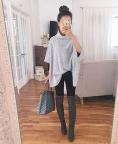 fall legging outfits tall boots outfit petite fashion dresses with leggings and Simple Fall Outfits, Fall Winter Outfits, Autumn Winter Fashion, Casual Outfits, Casual Fall, Dress Winter, Casual Attire, Autumn Fall, Winter Clothes