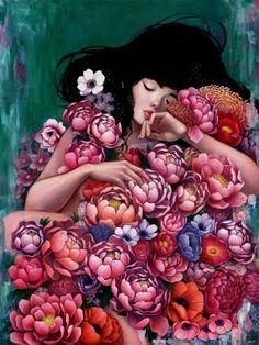 Audrey Kawasaki, Stella Im Hultberg Bring Solo Shows to Thinkspace Gallery pop kawasaki fairy art ryden ceccoli art art kush Audrey Kawasaki, Art And Illustration, Fantasy Kunst, Fantasy Art, Artist Profile, Arte Floral, Art For Sale, Art Inspo, Art Drawings