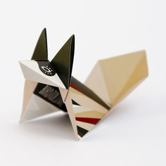 Ornaments – Green Fox: Pack of 3 folded origami Foxes – a unique product by birdtoldme on DaWanda