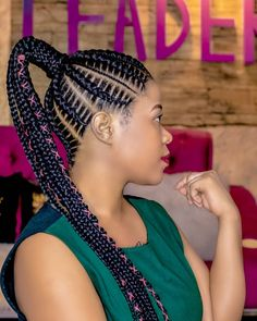 "Lida Mwaipaja on Instagram: ""Your Weekend Be Like.......  For Appointments Pls Contact Us On 0754 930 960  #StitchBraids  #WakaliWaHiziKazi"" Stitch Braids, Box Braids Styling, Braided Ponytail, Every Woman, Protective Styles, Pretty Hairstyles, Appointments, Hair Goals, Hair Inspiration"