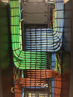Perfect Data cable run, RGB. Red blue Green patch panel wiring.