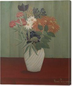 57a9c738837f26 Henri Rousseau - Bouquet of Flowers Canvas Print • Pixers® • We live to  change