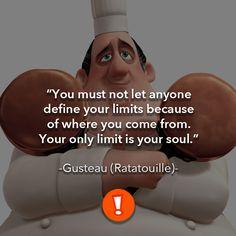 No debes dejar que nadie defina tus límites por el lugar de donde vienes. Tu único límite es tu alma.