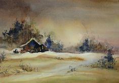 Fealing Lin Watercolors: landscape 4