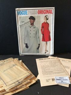 Excited to share this item from my shop: Vtg Vogue Paris 1675 YSL Sz 16 Misses Semi Fitted A Line Coat Label Bust 36 Hips 38 Vintage Sewing Patterns, Clothing Patterns, Dress Patterns, Vogue Patterns, Just Dream, Quilt Stitching, Crewel Embroidery, Vogue Paris, Double Breasted