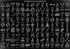Alchemical Symbols.                                                                                                                                                                                 More