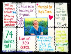 Math About Me Project- great idea for 1st day to get to know the kids and for them to get to know you!