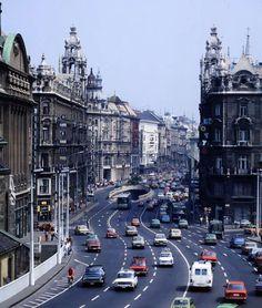 Budapest, Hungary, Vintage Photos, Past, Times Square, Transportation, Street View, Travel, Past Tense