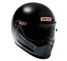 Simpson Super Bandit flat black helmet