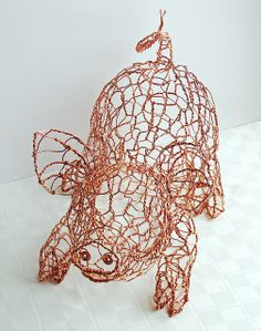 Copper Wire Pig - front | Flickr - Photo Sharing!