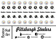 Pittsburgh Steelers  Waterslide Nail Decals  50pc ** For more information, visit image link. (This is an affiliate link) #NailDecalsandDecorations