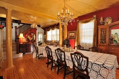 My Victorian dining room in my bed & breakfast.
