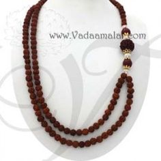 Rudraksha beads design chain mala trendy with ethanic sarees and salwars