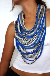 Cool idea! DIY cloth necklace