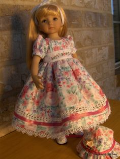 """Roses"" by Eileen for 13"" Effner Little Darling 14"" Betsy McCall Doll Dress   eBay"