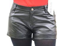 Jeans Shorts echt Lederhose Shorts echt LEDER Hotpants Kurze Leder Hose schwarz SUPER s6x - maße siehe unten SUPER s6x, http://www.amazon.de/dp/B00J31SXZQ/ref=cm_sw_r_pi_dp_PLU7ub1G3CGHD