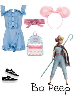 Disney bounding bo peep from Toy Story. Discover outfit ideas for made with the shoplook outfit maker. Disney Bound Outfits Casual, Cute Disney Outfits, Disney World Outfits, Disney Themed Outfits, Disneyland Outfits, Disney Dresses, Modern Disney Outfits, Princess Inspired Outfits, Disney Inspired Fashion