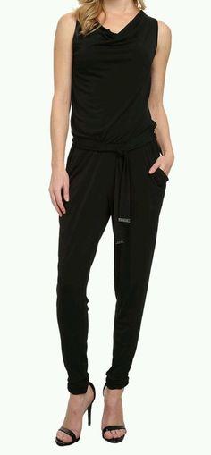 283e25cc2b5 MICHAEL Kors Sleeveless Cowl Neck Jumpsuit with Belt Size Petite Large   fashion