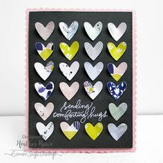 Those pretty hearts look like they could fly away! Simon Says Stamp July Card Kit! https://www.simonsaysstamp.com/product/Simon-Says-Stamp-Card-Kit-of-The-Month-JULY-2016-HANDWRITTEN-FLORAL-GREETINGS-CK716-CK716?currency=USD