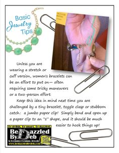 Use a paper clip to help hook your bracelet!