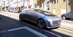 Goes on streets car without driver Mercedes puts out on street the car without a driver. This is a car that has an unprecedented luxury and is silver in color. The super modern car F015 is detected for the first time on the streets of San Francisco in the US. /www.world-dimension.com/