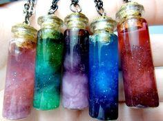 Цветные жидкости. Наполнение пузырьков, имитация алхимии.