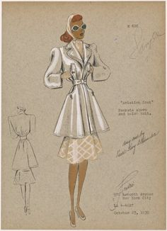 """Aviation coat."""" From New York Public Library Digital Collections."""