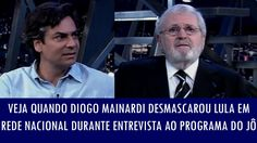 Veja quando Diogo Mainardi desmascarou Lula em rede nacional durante ent...