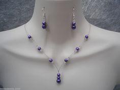 11c Handmade Choose Colour & Set Pearl Crystal Jewelery Bride Bridesmaid Wedding