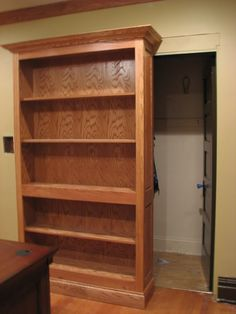 Hidden Gun Storage   HIdden Gun room doors? - AR15.Com Archive I'd use it for something other than guns, but this is a great idea.