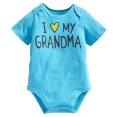 "Jumping Beans ""I Love My Grandma"" Bodysuit - Baby"