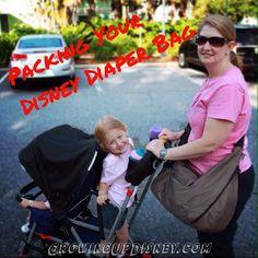 Walt Disney World diaper bag, Disney packing list