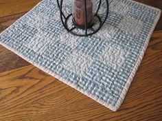 Homespun patchwork table topper table by granniesraggedybags