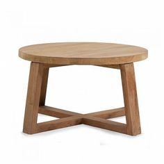 Beistelltisch rund Teakholz aus Recyclingmaterial FSC-zertifiziert natur ca. D:60 x H:35 cm - Tische - Möbel