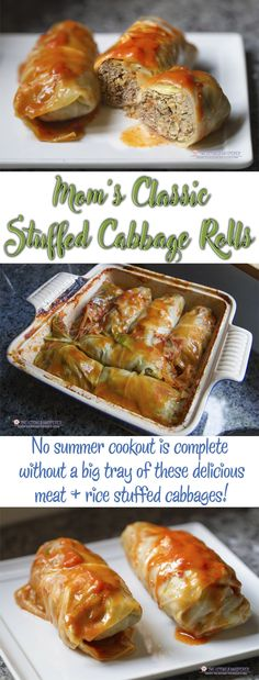 Classic Stuffed Cabbage Rolls No summer cookout is complete without a tray of stuffed cabbages! Tender cabbage leaves stuffed with rice, seasoned ground meats and a rich tomato sauce make this the perfect summer comfort food. P…Tender Tender may refer to: Cabbage Rolls Polish, Polish Stuffed Cabbage, Easy Cabbage Rolls, Easy Stuffed Cabbage, Baked Cabbage, Stuff Cabbage Rolls, Stuffed Cabbage Leaves, German Cabbage Rolls, Easy Rolls
