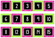 FREE numbers for your hundreds chart!