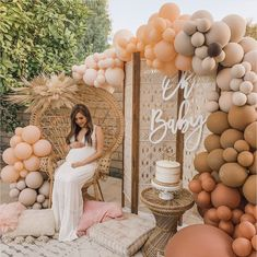 Baby Shower Boho, Baby Shower Brunch, Baby Shower Backdrop, Baby Shower Balloons, Baby Shower Parties, Baby Boy Shower, Girl Baby Showers, August Baby Shower, Baby Shower Themes Neutral