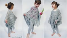 Ravelry: Project Gallery for Poncho pattern by Sucrette Poncho Shawl, Crochet Poncho, Crochet For Kids, Crochet Baby, Knitting Projects, Crochet Projects, Crochet Ideas, Crochet Mandala Pattern, Shawls And Wraps