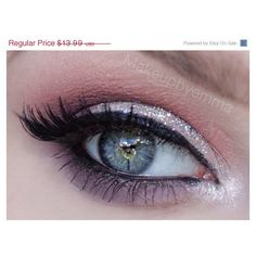 """BLACK FRIDAY Weekend Sale NEW """"Get this look"""" Discount Trio- Get this... ($12) ❤ liked on Polyvore featuring beauty products, makeup, eye makeup, eyeliner, eyes, hair, glitter eye makeup, black eye makeup, vegan makeup and glitter makeup"""