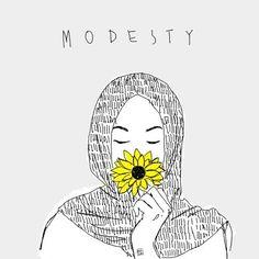 muslim, yellow, and modesty image Illustrations, Illustration Art, Hijab Drawing, Islamic Cartoon, Music Drawings, Anime Muslim, Hijab Cartoon, Muslim Girls, Muslim Women