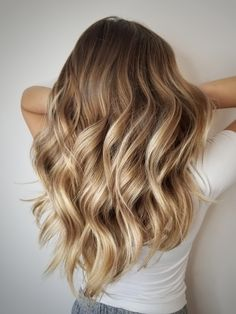 Hair with highlights, blonde foils, hair foils, dyed natural hair, balayage Brown Ombre Hair, Brown Hair Balayage, Brown Blonde Hair, Balayage Brunette, Ombre Hair Color, Light Brown Hair, Brown Hair Colors, Full Balayage, Light Blonde