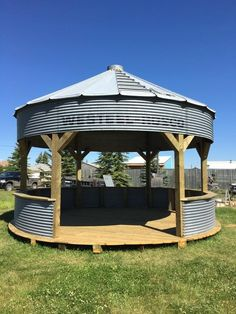 Gallery of Grain Bin Gazebo .Photo Gallery of Grain Bin Gazebo . Patio Gazebo, Garden Gazebo, Backyard Landscaping, Diy Gazebo, Grill Gazebo, Outdoor Gazebos, Backyard Bar, Landscaping Ideas, Backyard Ideas