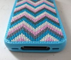 another chevron embroidered cross stitch iphone case