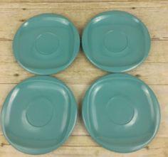"Lot of 4 Vintage Boontonware Melmac 6"" Blue Small Plates  #1206-6    eBay"