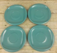 "Lot of 4 Vintage Boontonware Melmac 6"" Blue Small Plates  #1206-6  