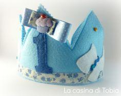 La Casina di Tobia: Coroncina primo compleanno Diego!