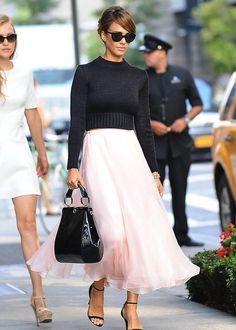 Jessica Alba wearing Ralph Lauren #JessicaAlba #Style #Fashion #StyleInspiration