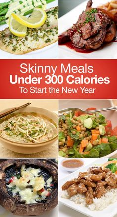 Skinny meals under 300 calories to start the new year under 300 calorie meals, dinner Under 300 Calorie Meals, No Calorie Foods, Low Calorie Recipes, Diet Recipes, Cooking Recipes, Healthy Recipes, Tasty Meals, Dinner Under 300 Calories, Lowest Calorie Meals