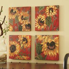 sunflower kitchen | sunflower kitchen decor tile murals - western